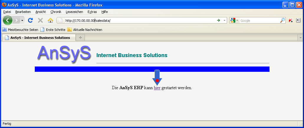 Ansicht 'Ansys - Internet Buisness Solutions'