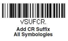 Barcode 'Add CR Suffix All Symbologies